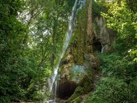 Artificial waterfall in Maliivtsi